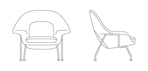 womb chair medium knoll