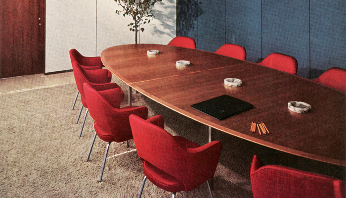 Florence Knoll and Eero Saarinen defined the American Modern movement with groundbreaking table and seating designs, respectively.