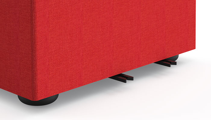 Four no-tool nylon ganging brackets come standard on all k. lounge except stool and pouf.