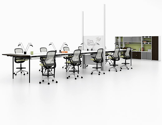 NeoCon 2013 Antenna Workspaces Standing Height with Interpole and ReGeneration by Knoll