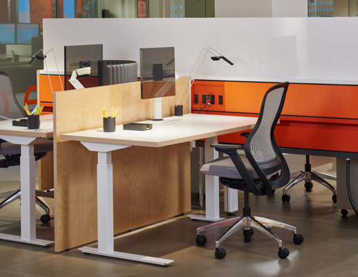 Antenna Workspaces NeoCon 2015 showroom ReGeneration by Knoll Sparrow LED KnollExtra Smokador desk management Sapper XYZ Tone height adjustable table Fence ergonomic