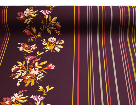 Odyssey Collection Andissa Red Purple Pink Yellow Floral Graphic Pattern  Dorothy Cosonas