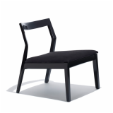 Knoll Black Lacquer Krusin Lounge Chair