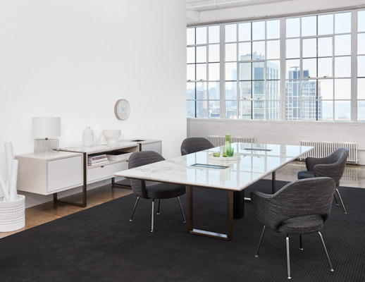 DatesWeiser Highline Conference Table with Undermount  Power  Highline Two High Credenza