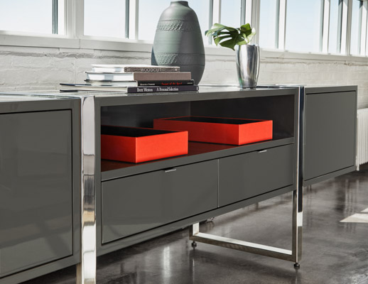 DatesWeiser Highline Two High Credenza with Top Access Trash