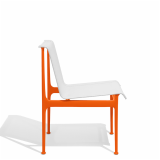 1966 Collection Dining Armless Chair orange Richard Schultz patio outdoor furniture