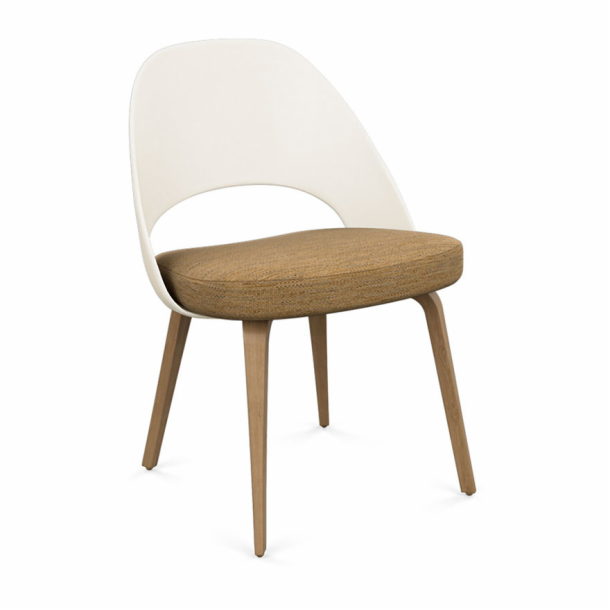 Saarinen Executive Chair - Plastic Back with Wood Legs