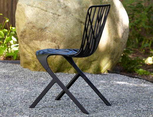 Knoll Washington Skeleton aluminum chair