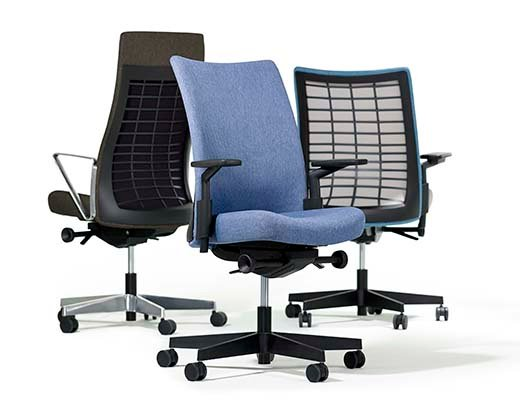 Remix Task Chair and High Back Upholstered Chair from Knoll