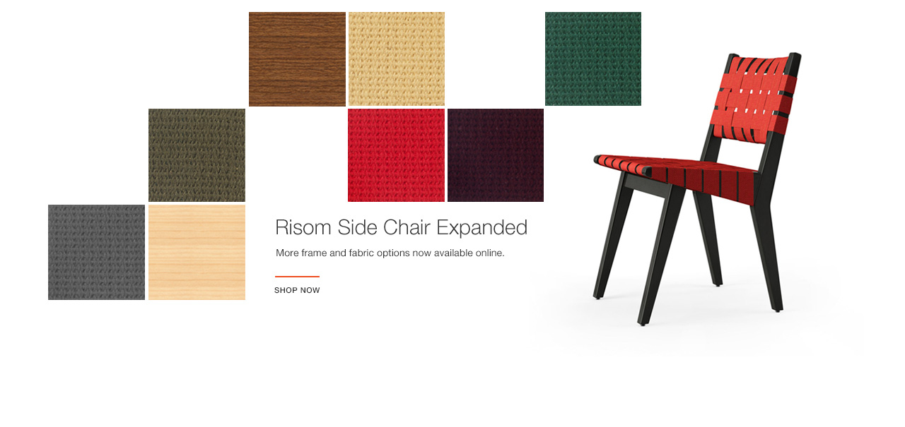 New Finishes Added to Risom Side Chair