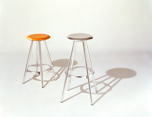 Amat-3 Orange Metal Kitchen Bar Stool