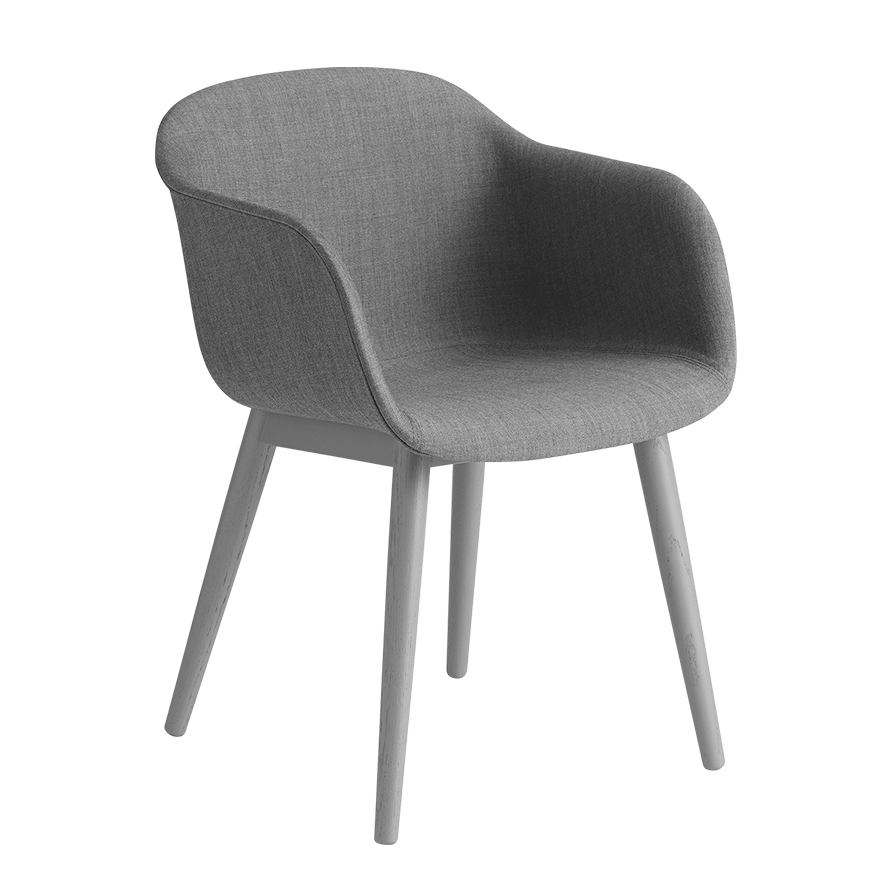 Fiber Armchair - Wood Base