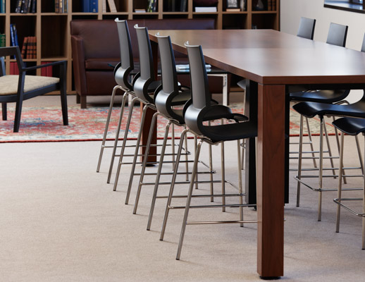 laminate fronts harvest table library meeting room café