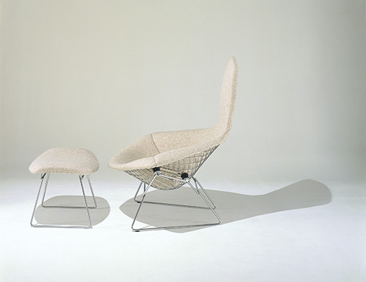 Bertoia Bird Lounge Chair and Ottoman