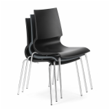 Gigi Stacking Chair in Grapite Finish