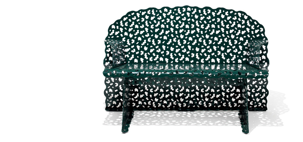 Knoll Topiary Bench by Richard Schultz