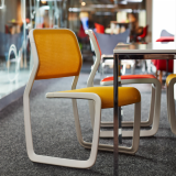 neocon 2018 hospitality at work newson aluminum chair marc newson knollstudio