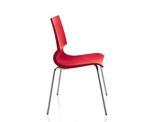 Knoll red Gigi Stacking Chairs
