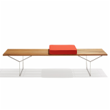 KnollStudio Teak Wood Bertoia Bench