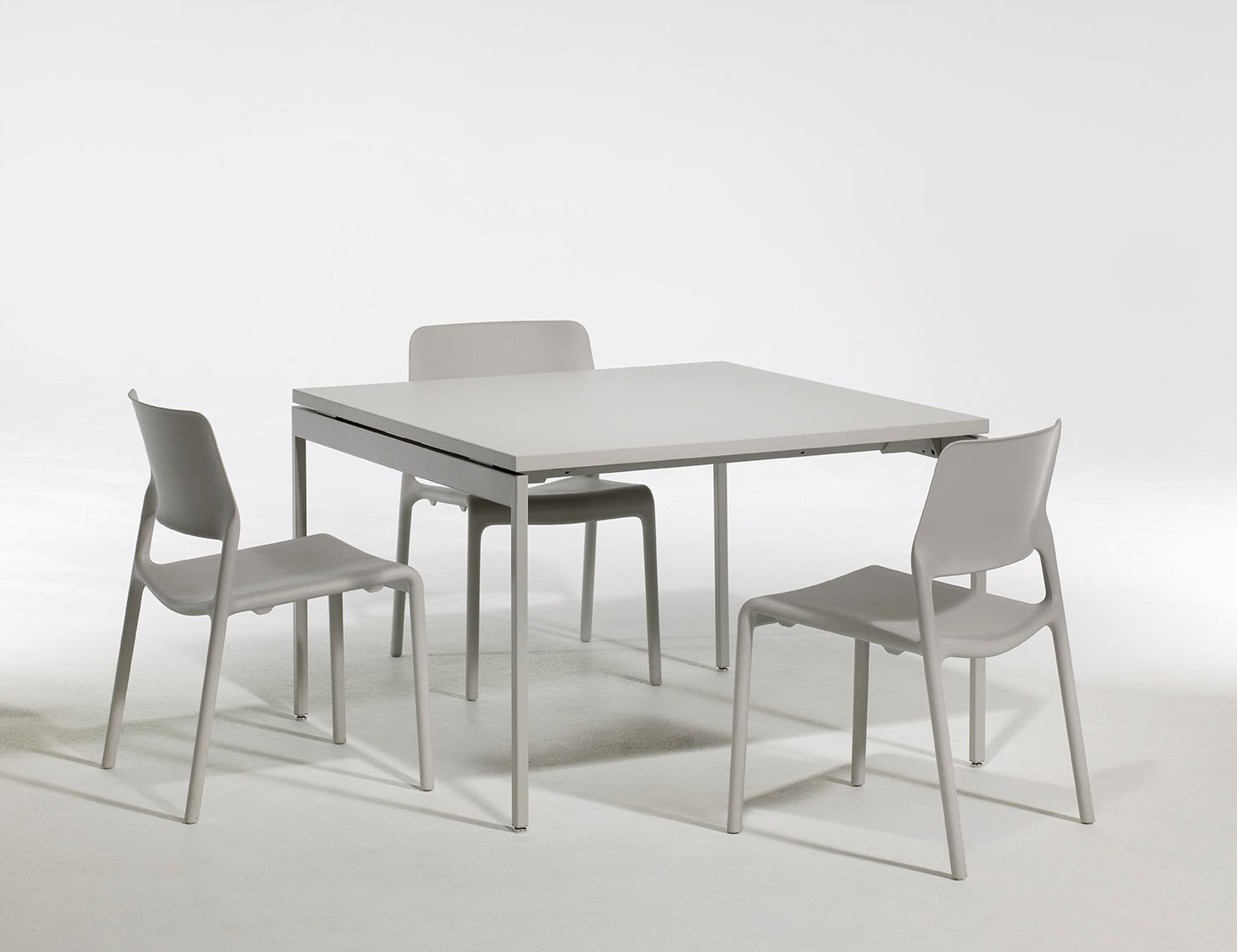 Antenna Table Square in White Spark Series Side Chair Activity Spaces