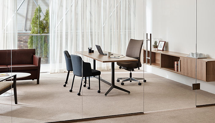 AnhorTM Storage With Dividends HorizonTM Table Private Office