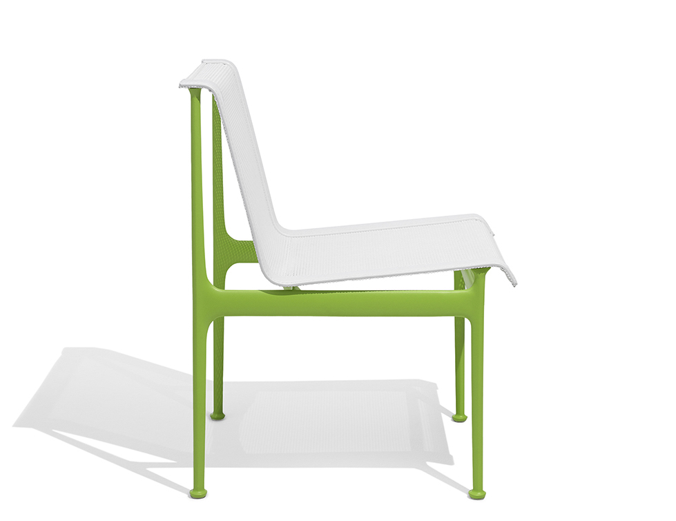 1966 Collection Dining Armless Chair lime green Richard Schultz patio outdoor furniture