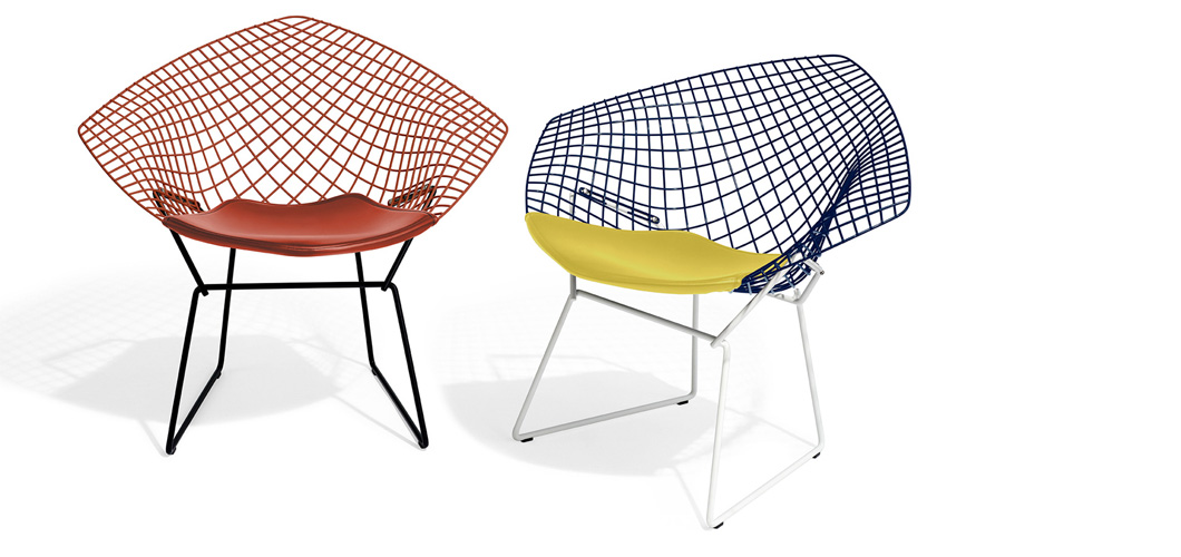 Knoll Bertoia Two-tone Diamond Chair by Harry Bertoia
