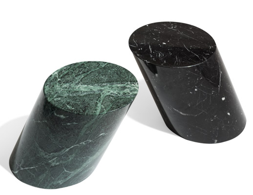 Verde Alpi and Nero Marquina Marble side table