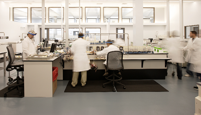 Blood center lab with Chadwick® High Task Chairs
