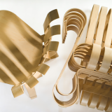 Frank Gehry Hat Trick and Power Play maple chairs