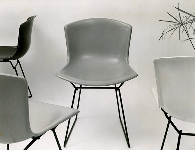 Knoll Harry Bertoia Shell Chair history