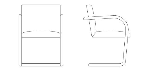 Mies Brno Chair brno chair - tubular | knoll