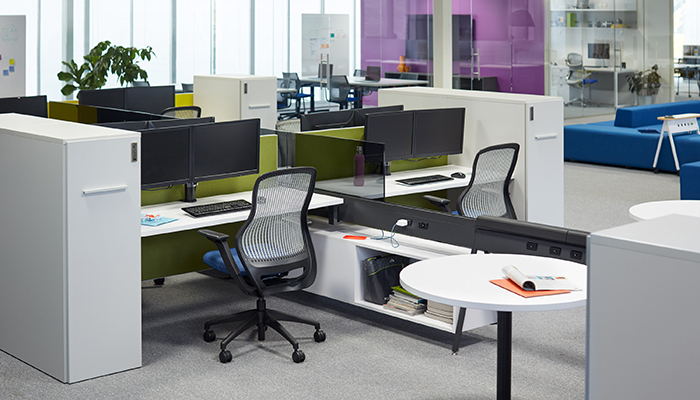 ReGeneration by Knoll® Task Chairs, Horsepower Technology Beam and Anchor Storage