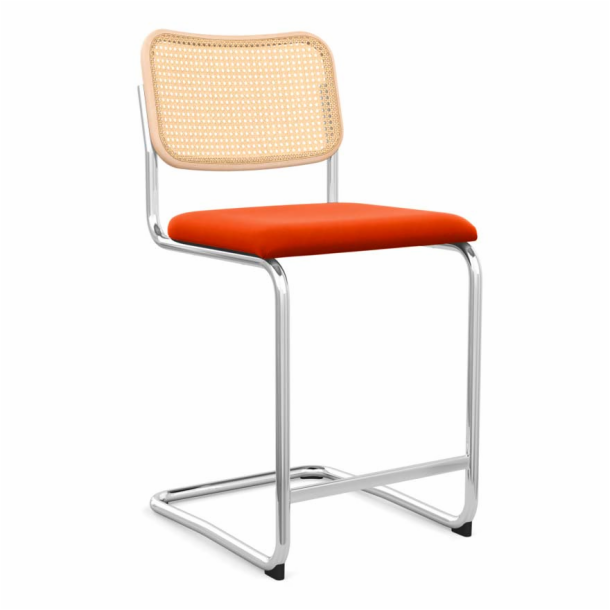 Cesca<sup>™</sup> Stool - Upholstered Seat & Cane Back