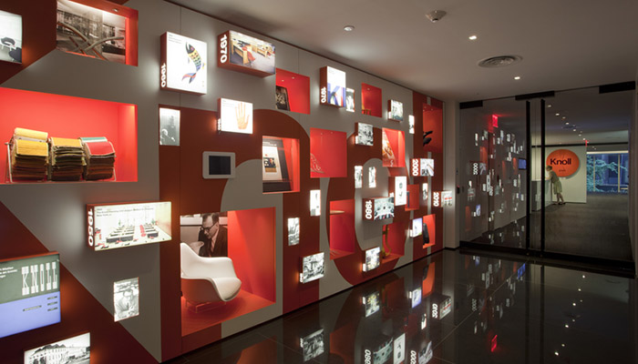 Interior design magazine tours the knoll new york showroom for Office design history