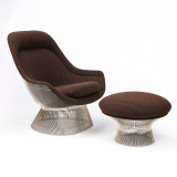 Knoll Platner Easy Chair and Ottoman