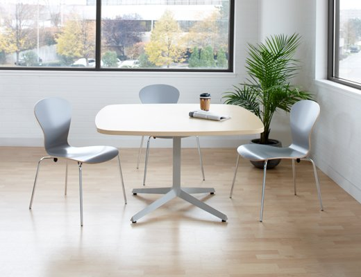 Dividends Horizon small white meeting table
