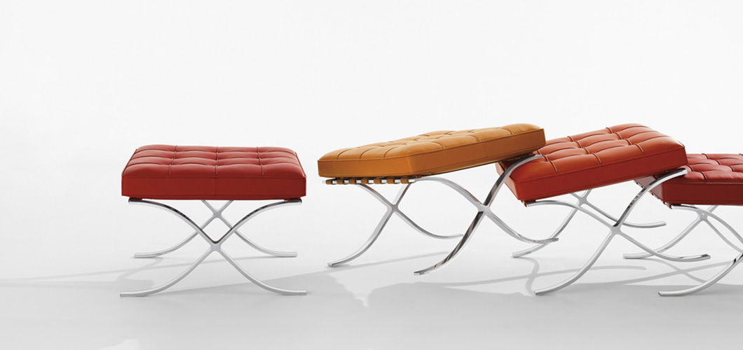 Knoll Mlies Barcelona Stool by Ludwig Mlies van der Rohe