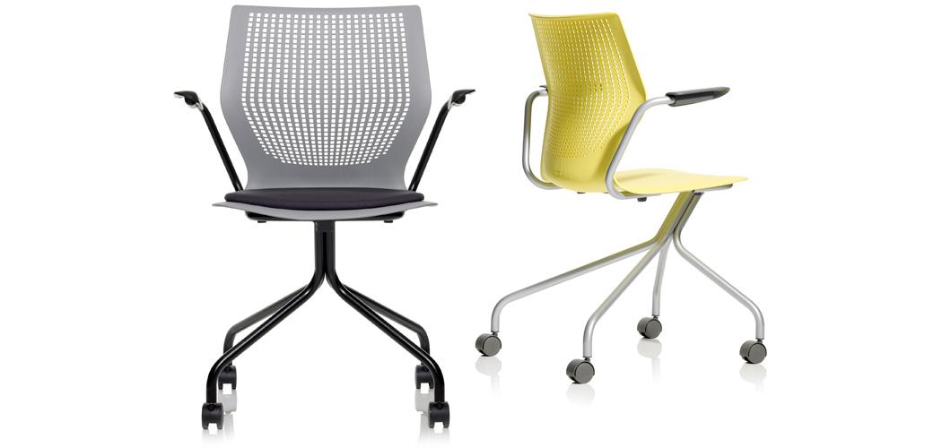 multigeneration by knoll hybrid base ergonomic side chair