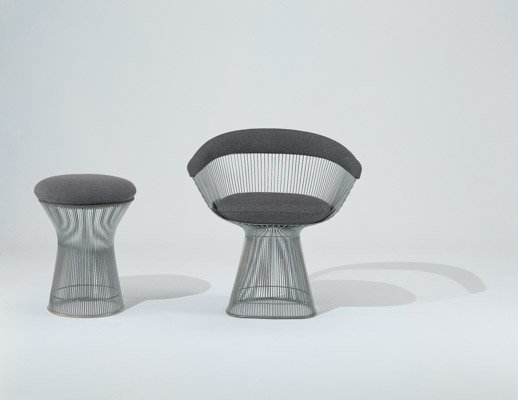 Platner Side Chair and Stool