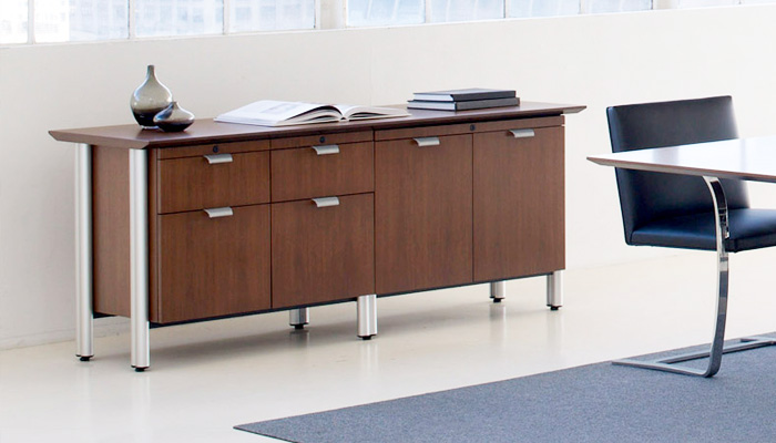 Propeller Conference Table Knoll - Conference table with storage