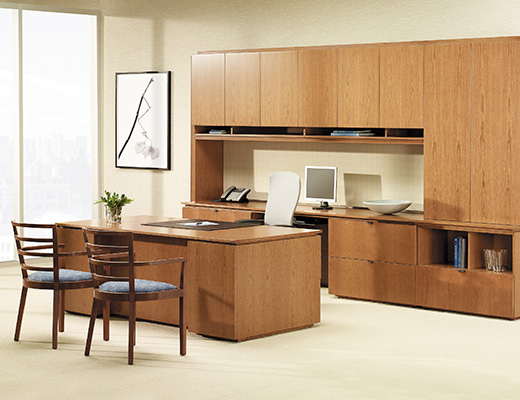 Graham Private Office with Freestaning Desk