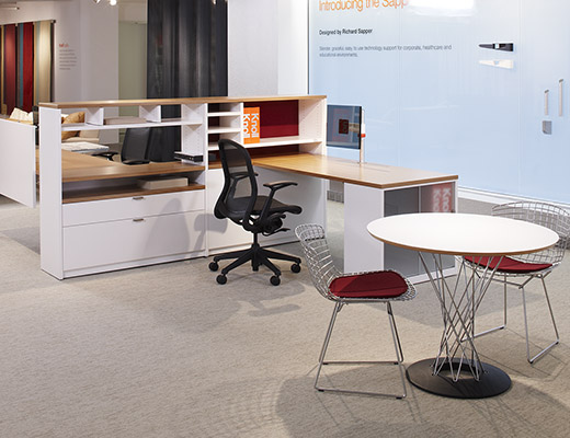 ... Template Workstation With Noguchi Cyclone Table And Bertoia Side Chair  ...