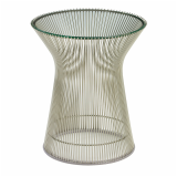 Warren Platner Side Table with glass top and wire base