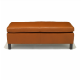 Krefeld Medium Bench with light walnut leg finish