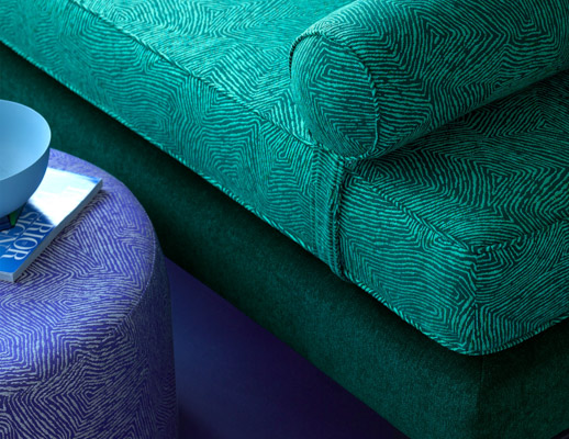 knoll textiles the shape of things collection imprint uphlstery cozy up