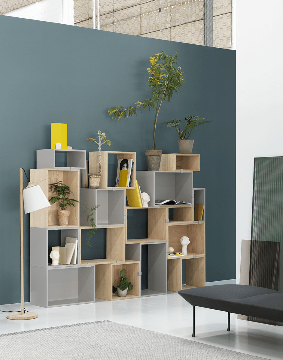 Muuto Stacked Storage Config 10 with Oslo Bench