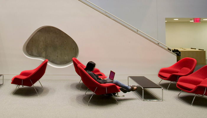 Lounge Area with Womb Chairs