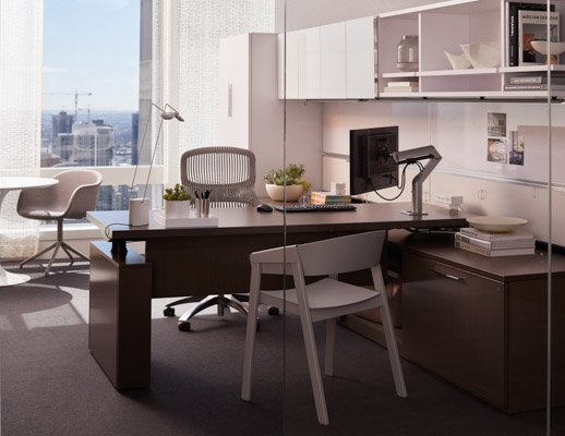 Knoll Reff Profiles Private Office Height Adjule Desk Ser Xyz Monitor Arm Sparrow Light Saarinen Dining
