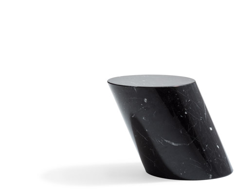 Nero Marquina Marble side table